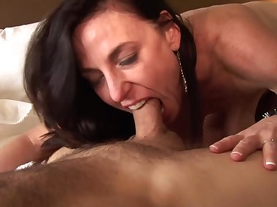 Mom let me lick your asshole and your wet mature pussy