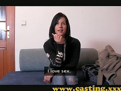 Casting - Hard anal and massive facial for beautiful Teen