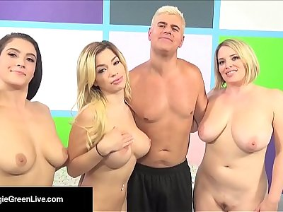 US Porn Star Maggie Green Has a 4 Way Orgy W/ Noelle Easton!