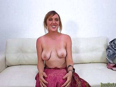 Amateur Mystick Moons porn audition giving a blowjob