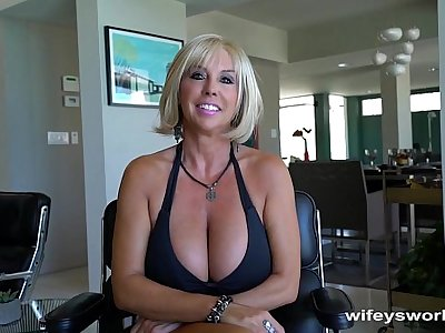 Huge Titty MILF Gets Big Cum Blast Facial