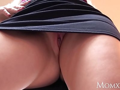 MOM Blonde MILF face fucks step son and demands sex