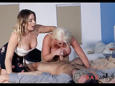 Mom Daughter Boyfriend Hot Threesome