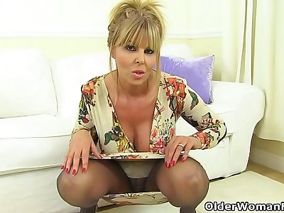 English milf Gabby will make you drool over her sweet fanny