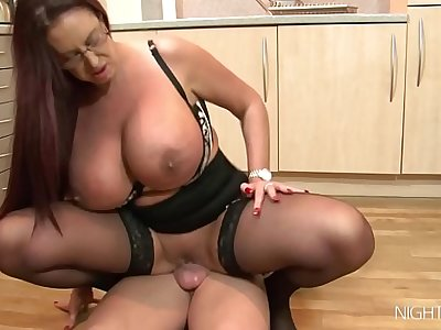 Kitchen sex with my busty StepMom!